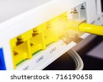 network cables and lan  ... | Shutterstock . vector #716190658