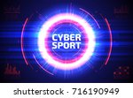 cyber sport abstract background.... | Shutterstock .eps vector #716190949