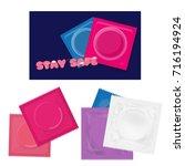 condom pack | Shutterstock .eps vector #716194924