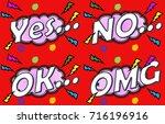 notification board yes | Shutterstock . vector #716196916