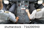 view of business jets cockpit.... | Shutterstock . vector #716200543