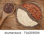 seeds of white  red and black... | Shutterstock . vector #716205034