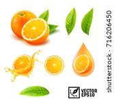 3d realistic vector set of... | Shutterstock .eps vector #716206450