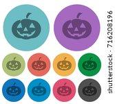 halloween pumpkin darker flat... | Shutterstock .eps vector #716208196