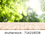 empty table for present product ... | Shutterstock . vector #716218528
