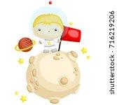 astronaut boy   Shutterstock .eps vector #716219206