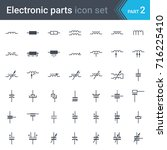 complete vector set of electric ... | Shutterstock .eps vector #716225410