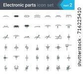 complete vector set of electric ... | Shutterstock .eps vector #716225410