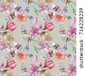 watercolor seamless for textile ... | Shutterstock . vector #716228239