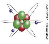 atom on white background | Shutterstock .eps vector #716230390