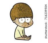 curious cartoon boy   Shutterstock .eps vector #716239504