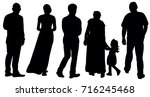 vector  isolated silhouette... | Shutterstock .eps vector #716245468