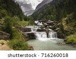 gradas de soaso. waterfall in... | Shutterstock . vector #716260018