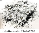 old chair scratches | Shutterstock . vector #716261788