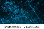 abstract connection dots.... | Shutterstock . vector #716280658