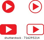 play button icon. background... | Shutterstock .eps vector #716295214