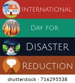 international day for disaster...   Shutterstock .eps vector #716295538