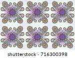 decorative texture background... | Shutterstock . vector #716300398