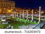 basilica ulpia at night  trajan ...   Shutterstock . vector #716303473