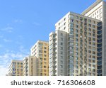 new block of flats buildings on ... | Shutterstock . vector #716306608