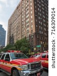new york city  new york  ... | Shutterstock . vector #716309014