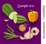 vegetables in retro style | Shutterstock .eps vector #71630902