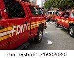new york city  new york  ... | Shutterstock . vector #716309020