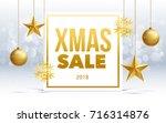 vector happy new year 2018 sale ...   Shutterstock .eps vector #716314876
