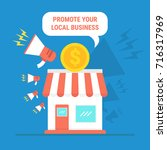 promote your local business | Shutterstock .eps vector #716317969