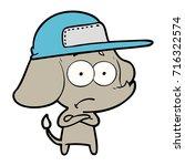 cartoon unsure elephant wearing ...   Shutterstock .eps vector #716322574