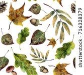 watercolor seamless pattern... | Shutterstock . vector #716328379