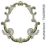 elegant baroque ornate. curves...   Shutterstock .eps vector #716330920
