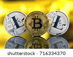 physical version of bitcoin and ... | Shutterstock . vector #716334370