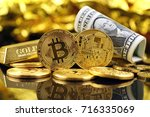 physical version of bitcoin ... | Shutterstock . vector #716335069