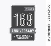 169 years anniversary design...   Shutterstock .eps vector #716343400