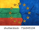 european union and lithuania... | Shutterstock . vector #716345134