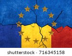 european union and romanian... | Shutterstock . vector #716345158