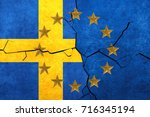 european union and sweden flags ... | Shutterstock . vector #716345194