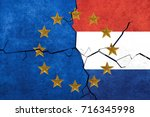 european union and netherlands... | Shutterstock . vector #716345998