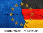 european union and german flags ... | Shutterstock . vector #716346004