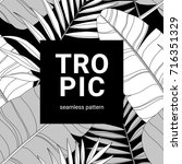 hand drawn vector pattern with... | Shutterstock .eps vector #716351329
