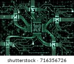 computer connection series.... | Shutterstock . vector #716356726