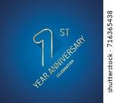 anniversary 1st year... | Shutterstock .eps vector #716365438