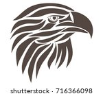 abstract eagle. digital drawing | Shutterstock .eps vector #716366098