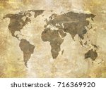 old map | Shutterstock . vector #716369920