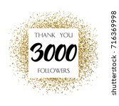 thank you 3k or 3 thousand... | Shutterstock .eps vector #716369998