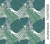 hand drawn vector pattern with... | Shutterstock .eps vector #716370010