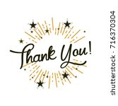 thank you  beautiful greeting... | Shutterstock .eps vector #716370304