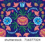 vector seamless decorative... | Shutterstock .eps vector #716377324