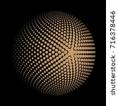 abstract dotted sphere ball ... | Shutterstock .eps vector #716378446